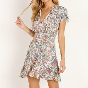 🍋 nwt | Auguste | spring rose wylde mini dress